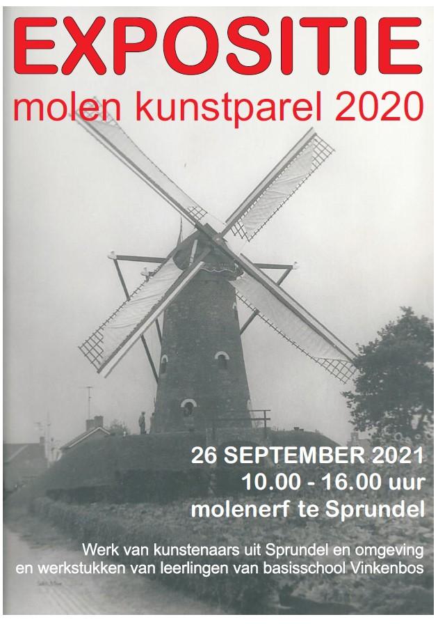 """Afrondende expositie Molen """"Kunstparel 2020"""""""